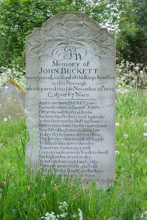 Buckett headstone