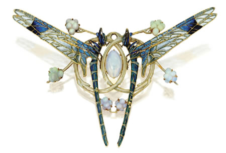Dragonflies-brooch